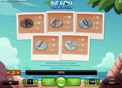 Tivoli featuring the Video Slots Beach with a maximum payout of $20,000