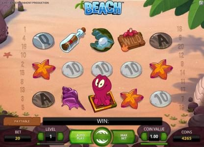 Prime Slots featuring the Video Slots Beach with a maximum payout of $20,000