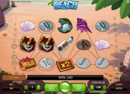 Play slots at DruckGluck: DruckGluck featuring the Video Slots Beach with a maximum payout of $20,000
