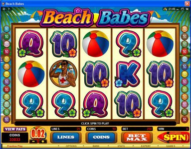 Viggoslots featuring the Video Slots Beach Babes with a maximum payout of $150,000
