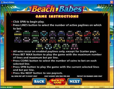 Golden Boys Bet featuring the Video Slots Beach Babes with a maximum payout of $150,000
