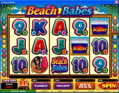 Play slots at Royal Vegas: Royal Vegas featuring the Video Slots Beach Babes with a maximum payout of $150,000