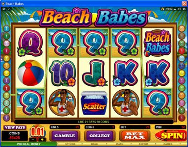 Wicked Jackpots featuring the Video Slots Beach Babes with a maximum payout of $150,000