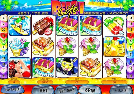 Play slots at Giant Vegas: Giant Vegas featuring the Video Slots Beach Life with a maximum payout of $500,000