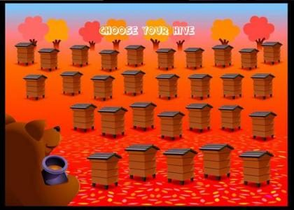 Bear Factory :: bonus game - choose a hive to increase your winnings