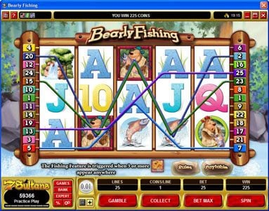 Simba Games featuring the Video Slots Bearly Fishing with a maximum payout of $72,000