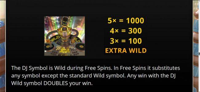 Beat Bots :: Extra Wild Symbol Rules and Pays - Free Spins Bonus