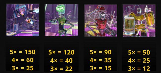 Beat Bots :: Slot game symbols paytable - Free Spins Bonus