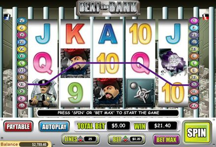 Lincoln featuring the Video Slots Beat the Bank with a maximum payout of $50,000