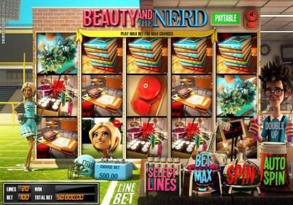Solara featuring the Video Slots Beauty and the Nerd with a maximum payout of $40,000
