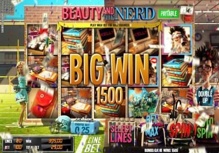 Casino Kaiser featuring the Video Slots Beauty and the Nerd with a maximum payout of $40,000