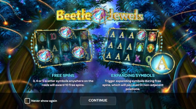Game features include: Free Spins and Expanding Symbols during Free Spins.