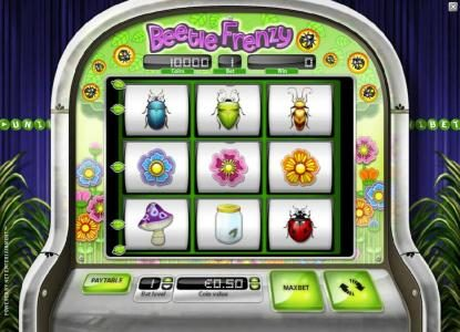 Buran featuring the Video Slots Beetle Frenzy with a maximum payout of $2,500