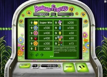 Play slots at Casino 765: Casino 765 featuring the Video Slots Beetle Frenzy with a maximum payout of $2,500
