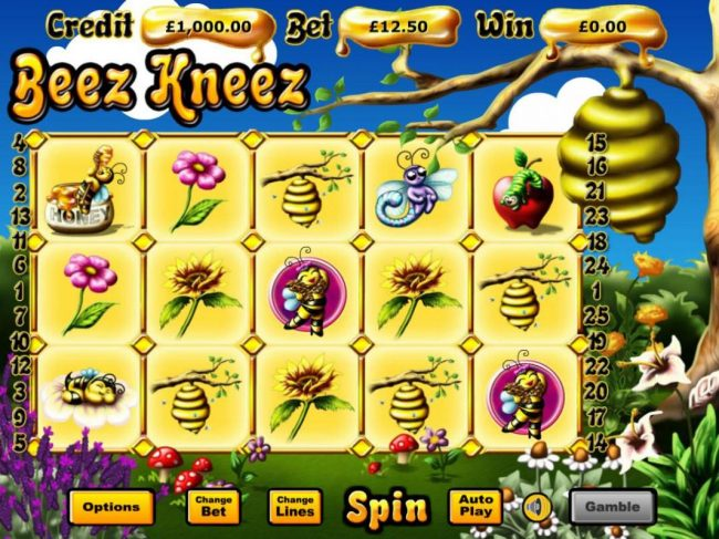 Play slots at Rose Slots: Rose Slots featuring the Video Slots Beez Kneez with a maximum payout of $62,500