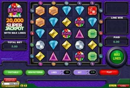Simba Games featuring the Video Slots Bejeweled with a maximum payout of $200,000