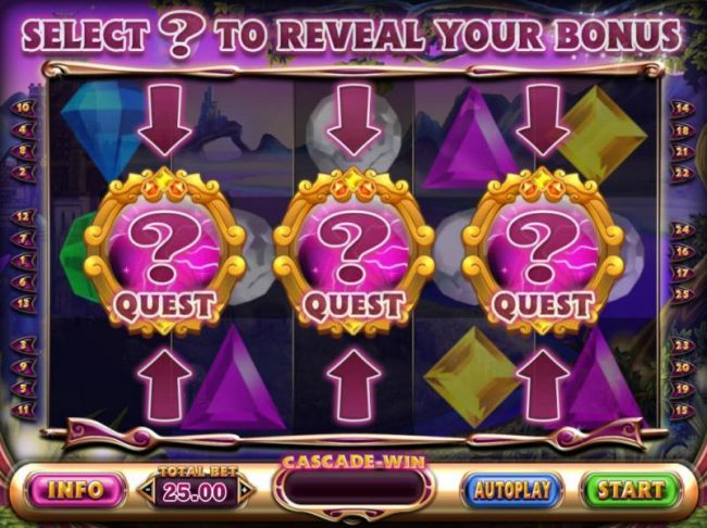 Select a Quest Badge to reveal your prize award.