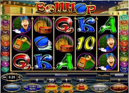 Play slots at Golden Crown: Golden Crown featuring the Video Slots Bell Hop with a maximum payout of $100,000