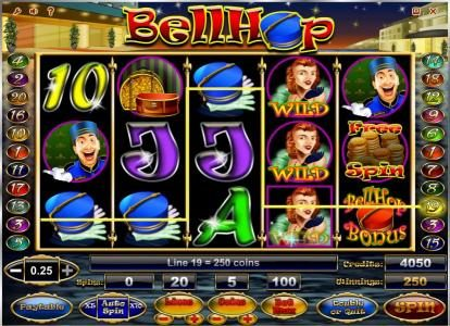 Wicked Bet featuring the Video Slots Bell Hop with a maximum payout of $100,000