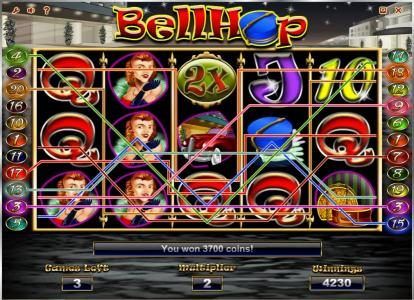 Dasistcasino featuring the Video Slots Bell Hop with a maximum payout of $100,000