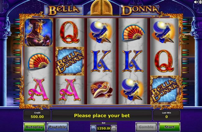 Hyper Casino featuring the Video Slots Bella Donna with a maximum payout of $625,000