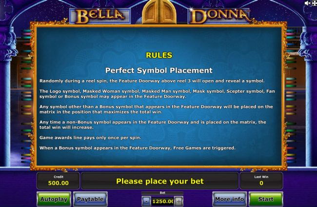 Company featuring the Video Slots Bella Donna with a maximum payout of $625,000