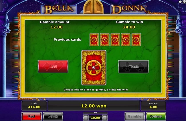 Quasar featuring the Video Slots Bella Donna with a maximum payout of $625,000