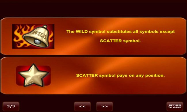 Bells on Fire :: Wild and Scatter Symbol Rules