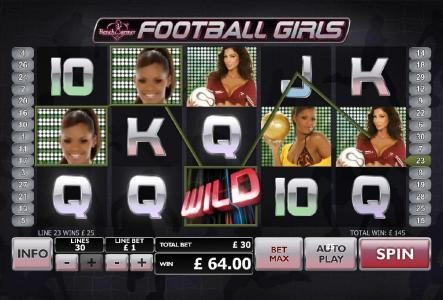 Play slots at Fly Casino: Fly Casino featuring the Video Slots Bench Warmer Football Girls with a maximum payout of $100,000