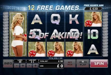 Casino King featuring the Video Slots Bench Warmer Football Girls with a maximum payout of $100,000