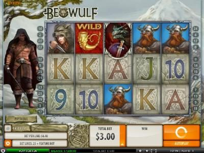 Mr Green featuring the Video Slots Beowulf with a maximum payout of $5000.00