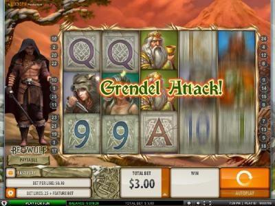 Playgrand featuring the Video Slots Beowulf with a maximum payout of $5000.00