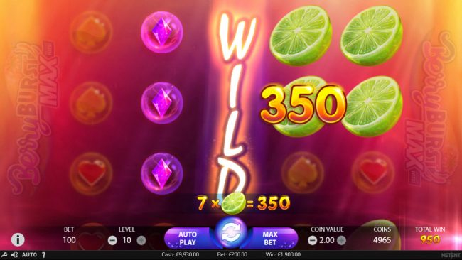 Rich Casino featuring the Video Slots Berry Burst Max with a maximum payout of $20,000