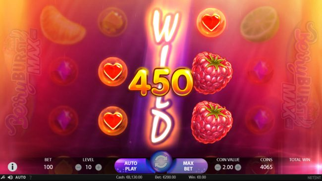 Free Spins featuring the Video Slots Berry Burst Max with a maximum payout of $20,000