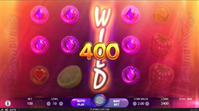 Triple Aces featuring the Video Slots Berry Burst with a maximum payout of $10,000