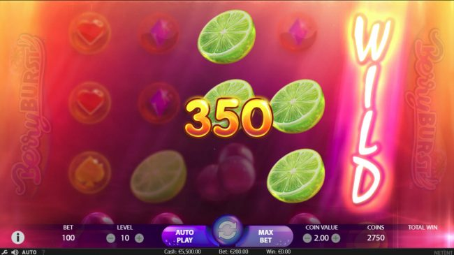 Play slots at Campeon: Campeon featuring the Video Slots Berry Burst with a maximum payout of $10,000