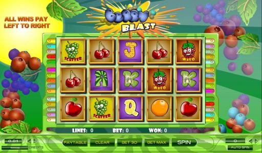 Play slots at Ocean Bets: Ocean Bets featuring the Video Slots Berry Blast with a maximum payout of $25,000