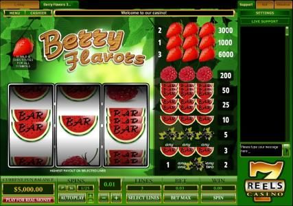 Play slots at Crystal Casino Club: Crystal Casino Club featuring the Video Slots Berry Flavors with a maximum payout of $30,000
