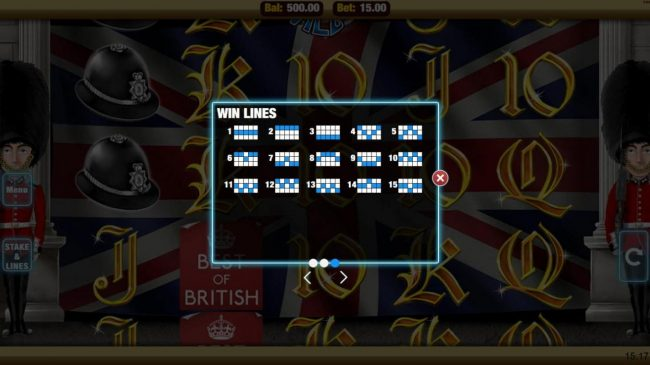 Mobireels featuring the Video Slots Best of British with a maximum payout of $500