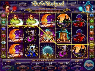 Boaboa featuring the Video Slots Bewitched with a maximum payout of Jackpot