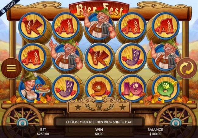 Play slots at Joy Casino: Joy Casino featuring the Video Slots Bier Fest with a maximum payout of $250,000