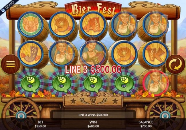 HippoZino featuring the Video Slots Bier Fest with a maximum payout of $250,000