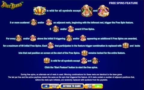 Bier Haus :: Free Spins Feature game rules