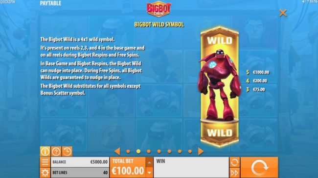 Dreamy 7 featuring the Video Slots Big Bot Crew with a maximum payout of $500,000