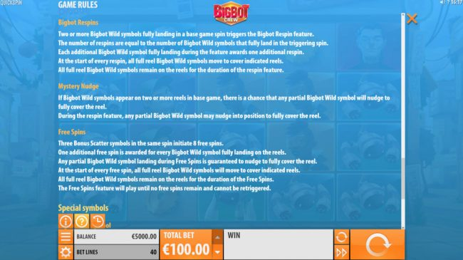 Tivoli featuring the Video Slots Big Bot Crew with a maximum payout of $500,000
