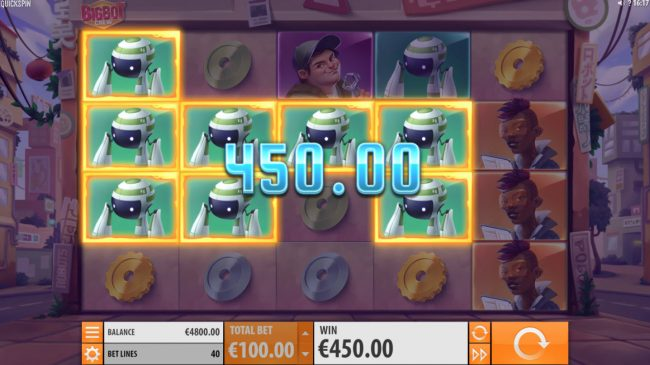 Wintingo featuring the Video Slots Big Bot Crew with a maximum payout of $500,000