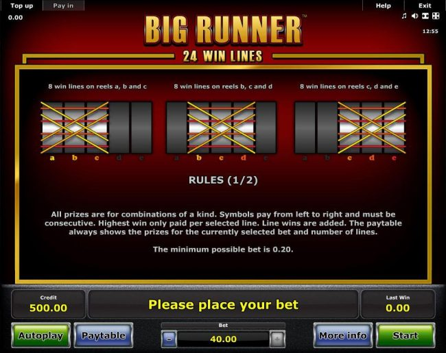 Play slots at Money Storm: Money Storm featuring the Video Slots Big Runner with a maximum payout of $62,500