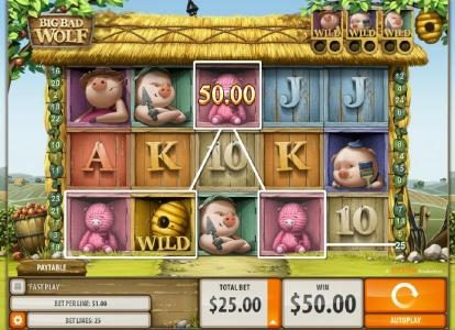 Big Bad Wolf :: Four of a kind triggers a $50 line payout.