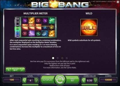 Genesis Casino featuring the Video Slots Big Bang with a maximum payout of $16,000