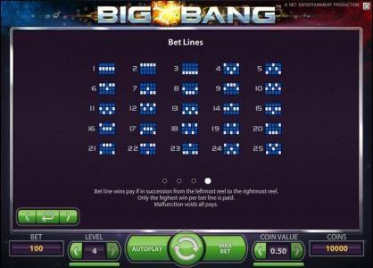 Play slots at Dasistcasino: Dasistcasino featuring the Video Slots Big Bang with a maximum payout of $16,000